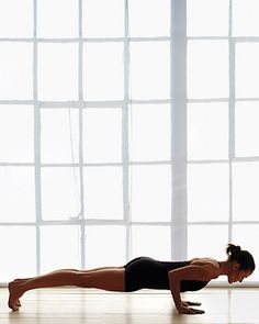 Plank and Chaturanga - I need to work on my arm strength so I can hold myself this low coming through chaturanga