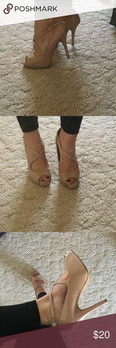 Steve Madden heels Strappy nude heels Steve Madden Shoes Heels