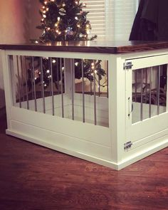 Terrific Free of Charge Single Large Dog Crate Furniture Popular A safe place for your dog A dog kennel is a great selection to offer your dogs protected exit during Dog Crate End Table, Wood Dog Crate, Dog Crate Furniture, Diy Dog Crate, Large Dog Crate, Large Dogs, Furniture Movers, Crate Nightstand, Crate Cover