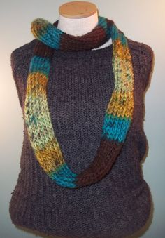 It's A Forest Infinity Scarf Bright Blue Moss Green by JandSKnitts, $15.00