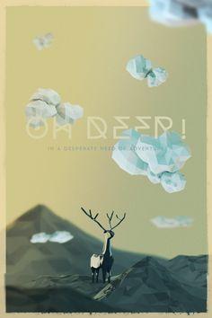 OH DEER! by Mauricio Tonon, via Behance #lowpoly