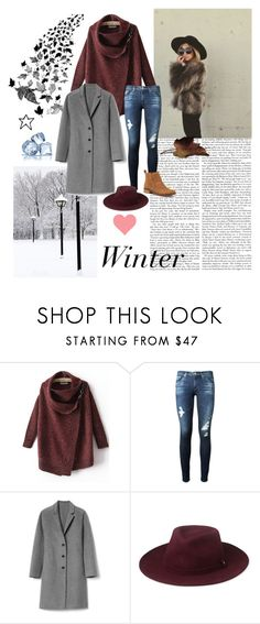 """Winter"" by astridtos ❤ liked on Polyvore featuring AG Adriano Goldschmied, Gap, Whistles and Lucky Brand"