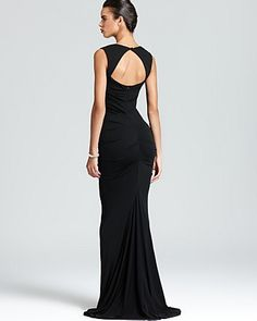 Back - Nicole Miller Gown - Sleeveless Stretch | Bloomingdale's