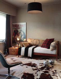boy room; retro avengers etc... could be cool!!   simple/ khaki-black.. add in simple photos.  dylans?