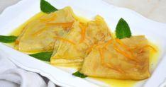 Crepes Suzette. Crepes dulces con salsa de naranja. Receta fácil paso a paso