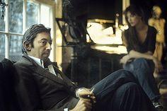 Serge Gainsbourg and Jane Birkin, 1974, by Claude Gassian