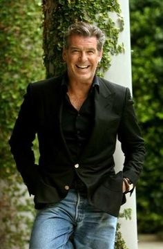 Pierce Brosnan...would also be a great Hugh or Byron if my book series ever became a movie.