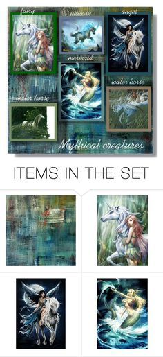 """""""Mythical creatures - Contest!"""" by sarahguo ❤ liked on Polyvore featuring art"""