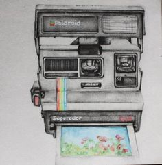 polaroid camera drawing tumblr