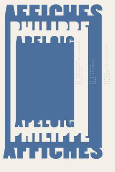 Graphic Design by Philippe Apeloig (b.1962), 2003, Affiches Philippe Apeloig Studio, Sérigraphie, Dubois imagerie.
