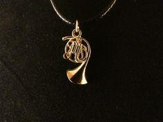 Posthorn Anhänger 24 Karat Vergoldet Horn Gold Musik Instrument Note Melodie