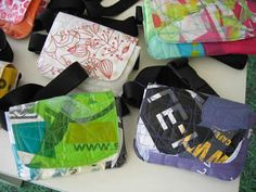 Sandra Guerreiro-- reusing plastic bags to create new bags, wallets, lamps, laptop cases and Reuse Plastic Bags, Fused Plastic, Material Art, Laptop Cases, Kites, New Bag, Recycled Materials, Lisbon, Diaper Bag