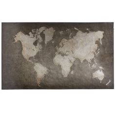 World Map Art - Steel Gray, Pier 1, could use somewhere...