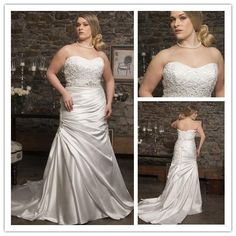 Aliexpress.com   Buy sweetheart crystal sleeveless empire stain bridal gown  vestido de novia plus size romantic plus size wedding dress 2015 NT 057  from ... 8cd3ec5d0fcd