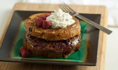 Raspberry Jam and Hazelnut Spread Stuffed French Toast