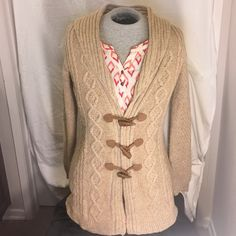 Beige Long sweater NWT....has really cute pink and yellow colors like seen in the 4th picture Merona  Sweaters