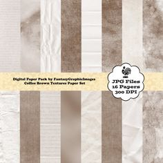 Mix Distressed Textures Digital Paper Pack by FantasyGraphicImages