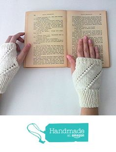 Hand Knit Fingerless Gloves in Ivory - Arm Warmers - Womens Seamless Knit Gloves - Winter Fashion - Made to Order from NaryaBoutique https://www.amazon.com/dp/B01LVW2ECU/ref=hnd_sw_r_pi_dp_SjoBzb26R3Q9P #handmadeatamazon
