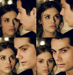Stiles and Lydia; Lydia is looking at Stiles the way he used to look at her ) ,: