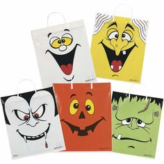 Trick or Treat Bags (sold per piece; made of plastic and comes in assorted designs)