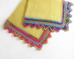 Knitted Baby Blanket - Yellow