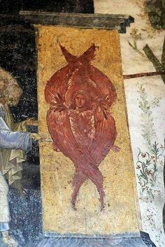 Fresco, Order Of Angels, Seraph Angel, Byzantine Art, Orthodox Icons, Illuminated Manuscript, Cherub, Fabric Art, Ikon