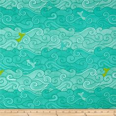 Michael Miller Into The Deep Surf Side Ocean from @fabricdotcom  Designed by Patty Sloniger for Michael Miller, this cotton print fabric is perfect for quilting, craft projects, apparel and home decor accents. Colors include light blue, aqua, green and lime.