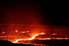 Erta Ale volcano, Danakil desert, Ethiopia Cool Landscapes, Ethiopia, Volcano, Ale, I Am Awesome, Deserts, Celestial, Outdoor, Photography