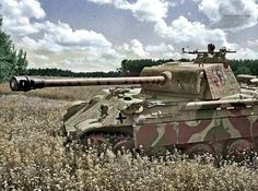 """Panther no. 534 of the SS Panzer Division """"Wiking"""" in Poland July 1944  German Soldiers Ww2, German Army, Ww2 History, Military History, Model Tanks, Ww2 Photos, Armored Fighting Vehicle, Military Pictures, Ww2 Tanks"""