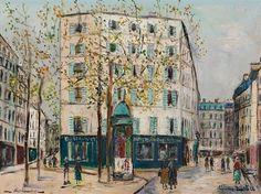 Le bureau de poste de la place des Abbesses by Maurice Utrillo