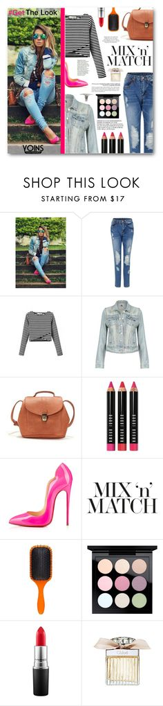 """Mix'n'Match"" by tasnime-ben ❤ liked on Polyvore featuring Bobbi Brown Cosmetics, Christian Louboutin, ASOS, Denman, MAC Cosmetics, Boy Meets Girl, Chloé and yoins"