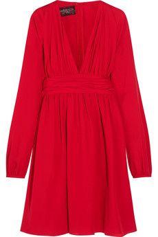 Giambattista Valli Ruched silk-georgette mini dress   THE OUTNET