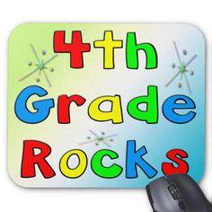 4th Grade Rocks Mousepad #backtoschool