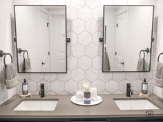 Smart Idea for double sink vanity in your bathroom. lets check here !!!