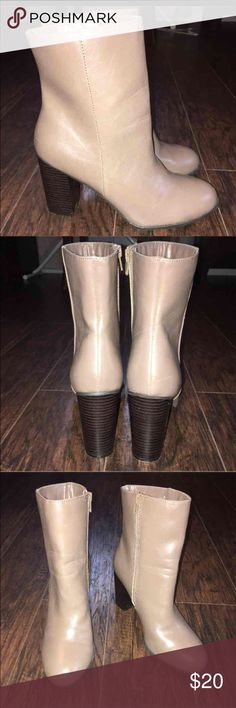 New York& Company brown leather boots size 8 In awesome condition. Very little signs of any wear. Non smoking home. Size 8 New York & Company Shoes Ankle Boots & Booties