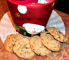 Fruitcake Cookies by CookieCircles on Etsy, $15.00