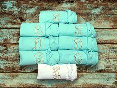 5e2b27aa90 Items similar to Bridesmaid Robes - Set of 7 - Cotton Bridesmaid Robes -  Plain Cotton Robe - Bridesmaid Robe set of SEVEN - Monogrammed Robe -  Embroidered ...