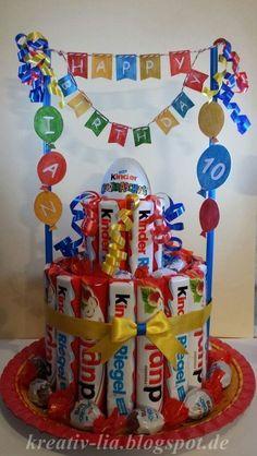 Hallo Zusammen Für einen Kindergeburtstag habe ich eine weitere K inder -Riegel-Torte gewerkel...