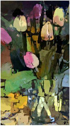 Oil Painting Flowers Art Dutch Flower Still Life Paintings Mona Lisa Canvas Moon Oil Painting Giant Art Canvas Tulip Painting, Oil Painting Flowers, Abstract Flowers, Painting Art, Landscape Art, Landscape Paintings, New Wall, Oeuvre D'art, Flower Art