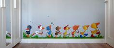 Gonnie 't Gansje-0 Prachtige muurschildering voor in de gang op school. Nu nog een ouder vinden die goed kan schilderen!