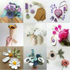 #feltflowers #feltfoliage #felt #creation #floral #feltdiy #diyfelt #diyweddingflower #weddingdiy #weddingflower Handmade Flowers, Diy Flowers, Fabric Flowers, Paper Flowers, Felt Crafts, Diy And Crafts, Felt Flowers Patterns, Felt Flower Bouquet, Felt Leaves