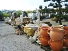 Záhradné centrum   Sadex, Kameninové dekorácie, keramické kvetináče, toskánska keramika, dekorácie do záhrady
