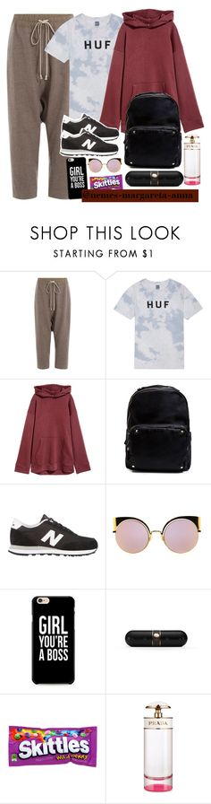 """WilldaBeast Adams Choreography"" by nemes-margareta-anna ❤ liked on Polyvore featuring Rick Owens, HUF, Madden Girl, New Balance, Fendi, Beats by Dr. Dre and Prada"