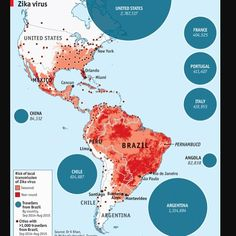 A map of Zika's spread in 2014-15. 🇧🇷 🇻🇪 🇨🇴 🇪🇨 🇧🇴 🇵🇪 🇵🇾 🇺🇾 🇦🇷 🇨🇱 - - - Thousands of women have given birth to babies with microcephaly with 1,634  babies in Brazil alone. - - #brazil #colombia #venezuela #ecuador #peru #chile #bolivia #paraguay #uruguay #argentina #mosquito #zikavirus #zika #disease - - #maps #map #infographic #infographics