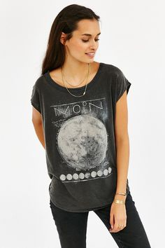 Chaser Full Moon Washed Tee - Urban Outfitters
