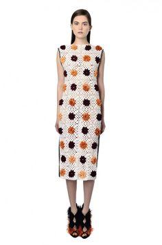 NatarGeorgiou floral granny square dress