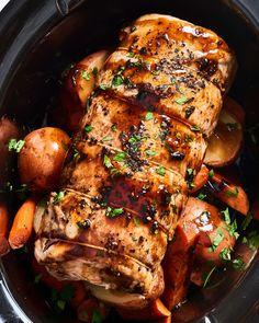 Recipe: Slow Cooker Pork Loin Recipe: Slow Cooker Pork Loin,jedzenie Related posts:Crockpot Broccoli Cheese Soup Recipe {EASY Dinner} - The Frugal Girls - RecipesThe Amazing Crack Chicken Noodle Soup Pork Loin Recipes Slow Cooker, Pork Tenderloin Recipes, Crock Pot Slow Cooker, Pork Recipes, Cooking Recipes, Crockpot Pork Loin Roast, Cooking Games, Crockpot Meals, Pork