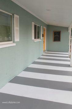 Painted Cement Floors, Painted Concrete Porch, Concrete Bedroom, Painted Front Porches, Painted Rug, Painting Concrete, Porch Flooring, Basement Flooring, Bedroom Flooring