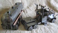 Duży model z metalu Truck cysterna
