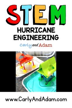 Hurricane STEM Challenge / Weather STEM Activity for Kids by Carly and Adam - Hobbies paining body for kids and adult Weather Activities, Steam Activities, Science Activities, Activities For Kids, Preschool Science, Elementary Science, Science Education, Education Quotes, Stem Science